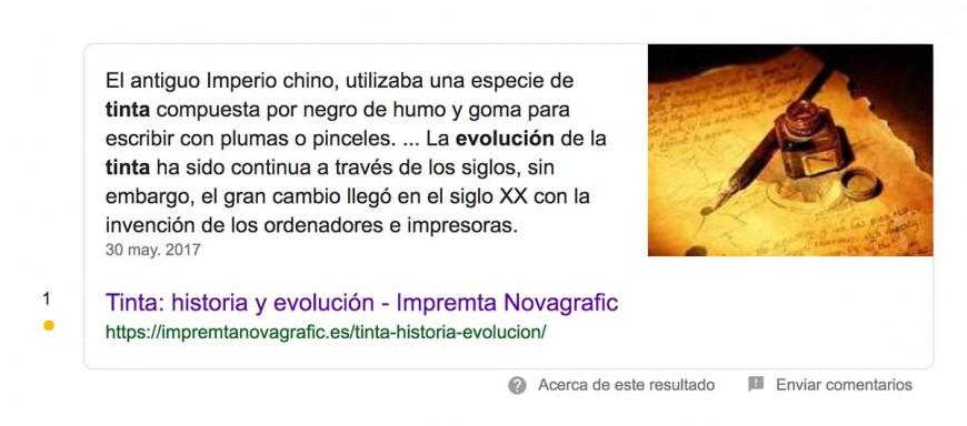 Ejemplo de resultado cero de google