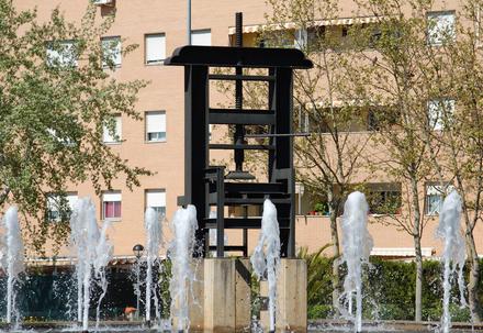 monumento rotonda en Alcalá de Henares